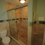 Bathroom with natural stone & sea glass01